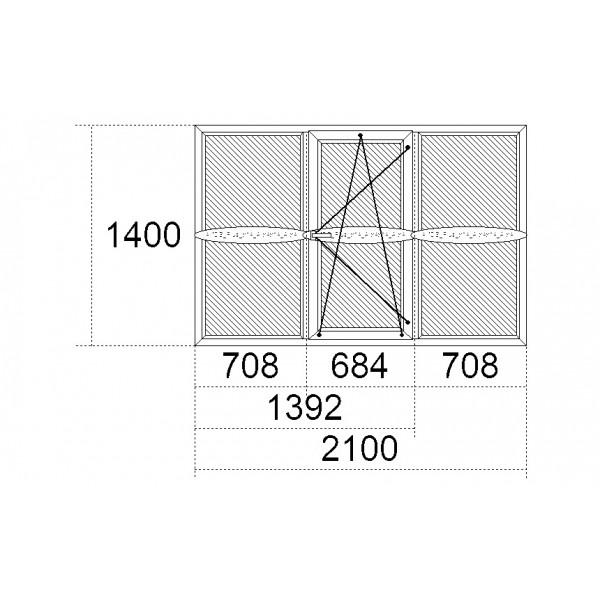 Вікно Steko IDEAL 4000 2100 x 1400