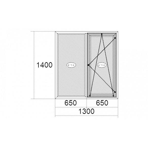 Вікно Steko S600 1300 x 1400